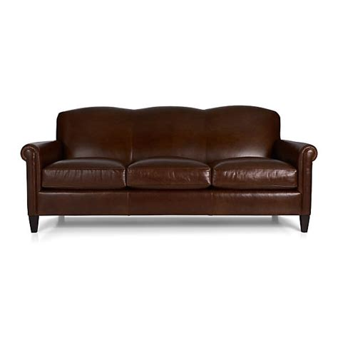 mcallister leather sofa gordon crate and barrel