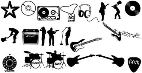 rockstar cassetta cassette cd drum set guitar silhouettes rock