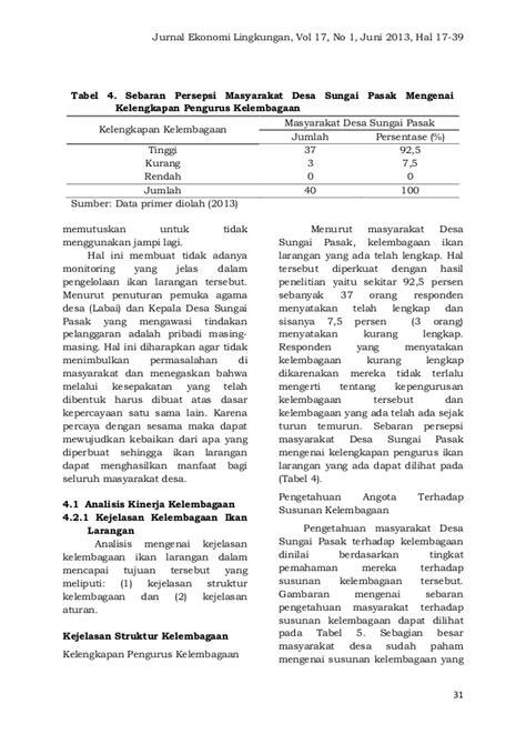 membuat jurnal ekonomi jurnal ekonomi lingkungan vol 17 no 1 ipb
