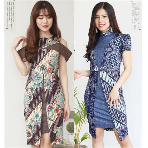 batik dress modern blouse jumbo bigsize kantor cheongsam