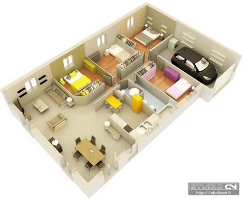 Small 3 Bedroom House Floor Plans by Maisons Top Duo 169 Plans 3d 233 Clat 233 S