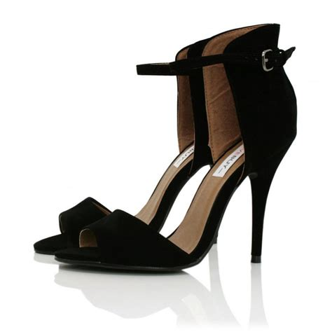 heeled sandal buy heythere heeled sandal shoes black suede style