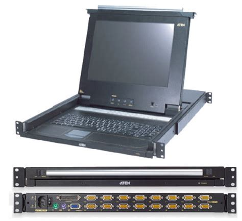 console kvm kvm choice uk cl1208le ate aten 8 port switch 1u kvm