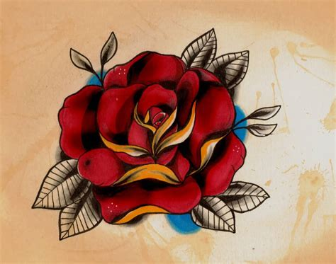 old school tattoo rose 75 best school sketches golfian