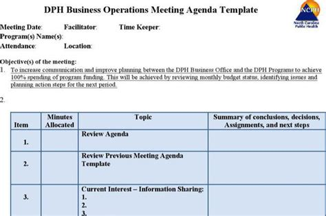 operations meeting template company meeting agenda templates free premium
