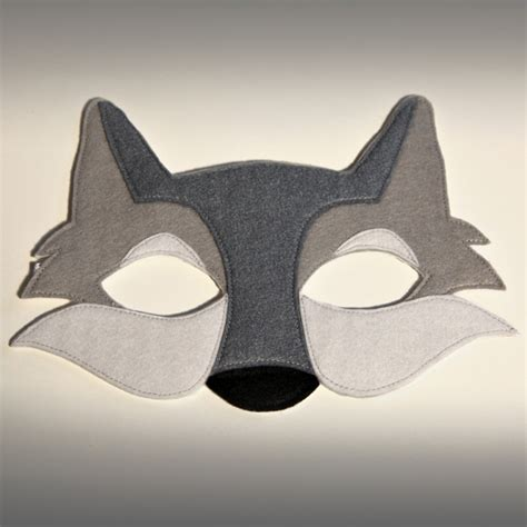 felt childs wolf mask folksy
