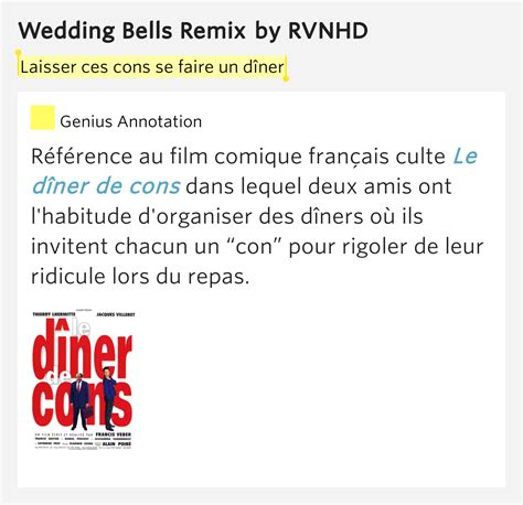 Laisser Ces Cons Se Faire Un D 238 Ner Wedding Bells Remix House Wedding Bell Lyrics