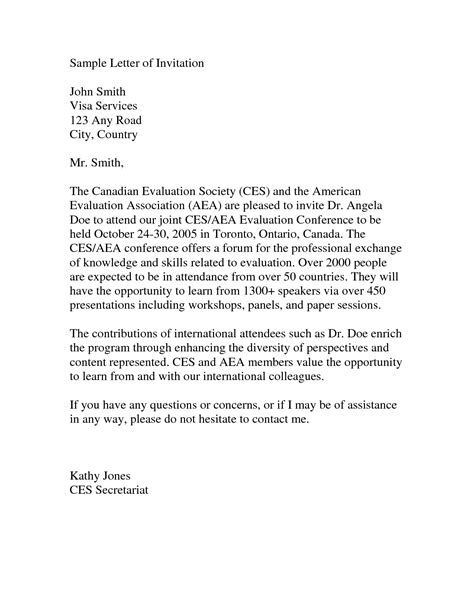 Letter For Visa Sle How To Write Invitation Letter For Visa Canada Docoments Ojazlink