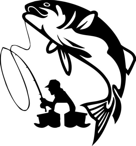 Large Wall Stickers For Living Room fisherman decal sticker fishing wall graphic fish boat