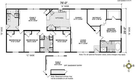 5 bedroom manufactured home floor plans double wide floor plans 5 bedroom 5 bedroom double wide