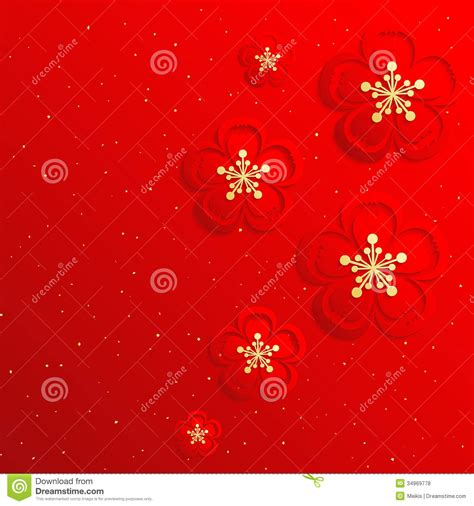 new year cherry blossom background new year background stock vector