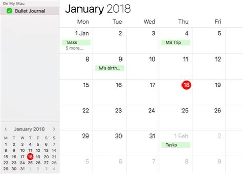 make a calendar on mac create a bullet journal on your mac with reminders