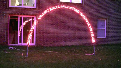 how to build a christmas arch prototype of an arch for our 2010 light display