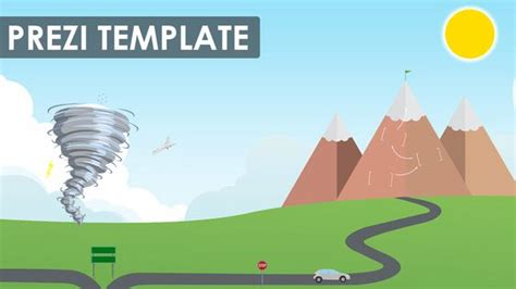 Adventurous Prezi Template With A Road To Success Concept State Your Plan And Show The Journey More Prezi Templates