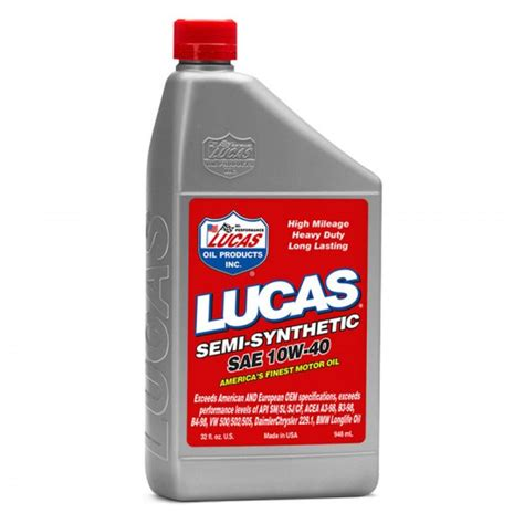 semi synthetic motor lucas 174 10176 sae 10w 40 semi synthetic motor