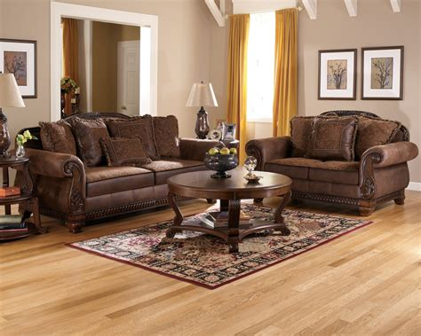 sectional or sofa and loveseat bradington truffle sofa loveseat and accent chair set sofas