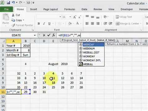 how to make a perpetual calendar in excel how to make a calendar in excel 2010