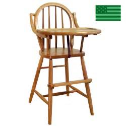 amish bow back baby high chair solid wood handcrafted