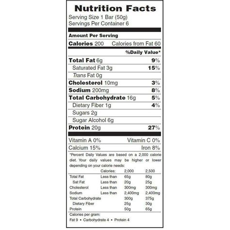 5 protein bars a day zone protein bars nutrition facts nutrition ftempo