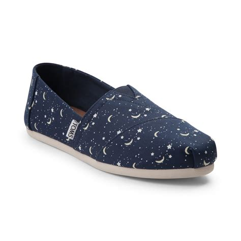 shoes for womens womens toms alpargata moon casual shoe navy 350257
