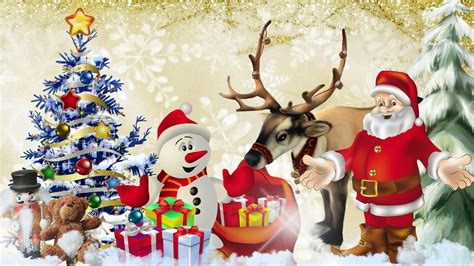 christmas wallpaper cartoons santa claus pictures images for