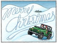 christmas jeep card all things jeep exclusively ours jeep christmas cards
