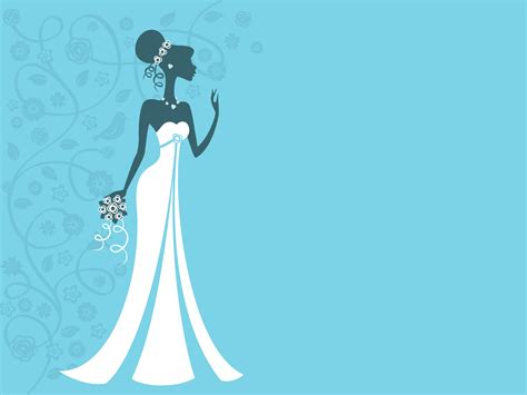 Wedding Bride Backgrounds Blue Holiday White Templates Free Ppt Backgrounds And Powerpoint Free Wedding Powerpoint Templates Backgrounds