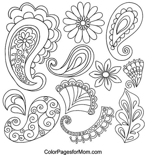 paisley coloring pages pdf free coloring pages of paisley color pages