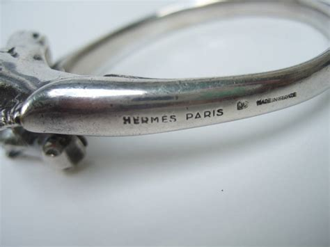 Sanda L Hermes Chaine M413 hermes silver metal equestrian bracelet c 1950 at