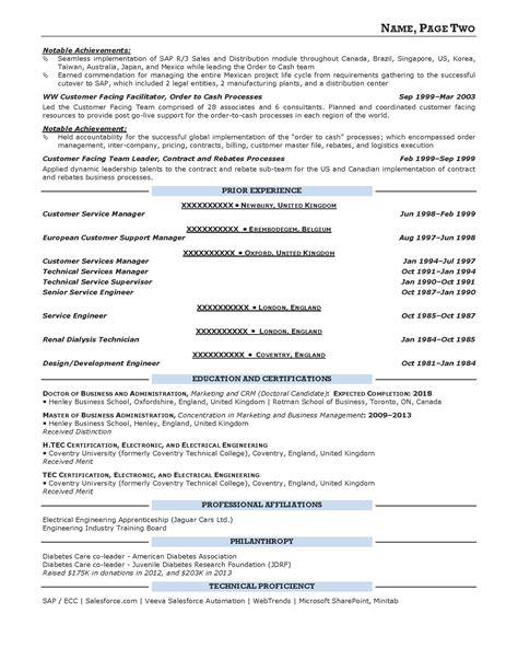 Resume Prime by Executive Resume Sles Resume Prime
