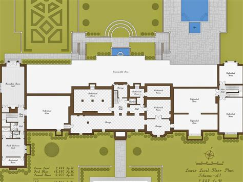 mansion plans floor plans on mansion floor plans ground