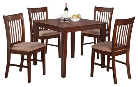 5 kitchen table set square table and 4 dining