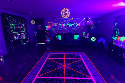 party themes glow in the dark glow in the dark dance floor from a glow dance birthday