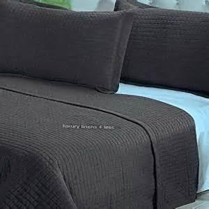 Lightweight Bed Coverlet Modern Solid Brown Lightweight Bedding Quit