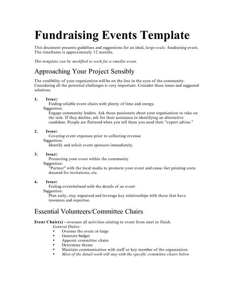 fundraising policy template best photos of organization for an event program sle
