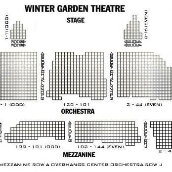 winter garden theater nyc seating chart winter garden theatre 68 photos 41 reviews