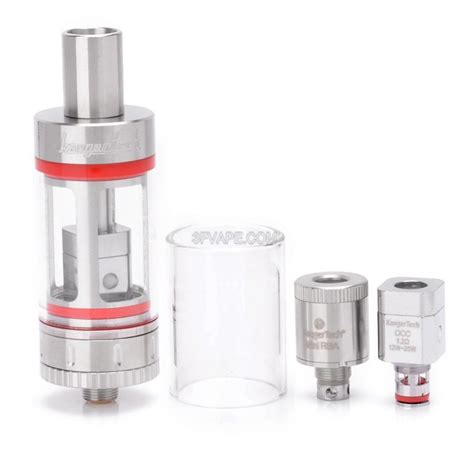 authentic kanger subtank mini silver transparent 4 5ml