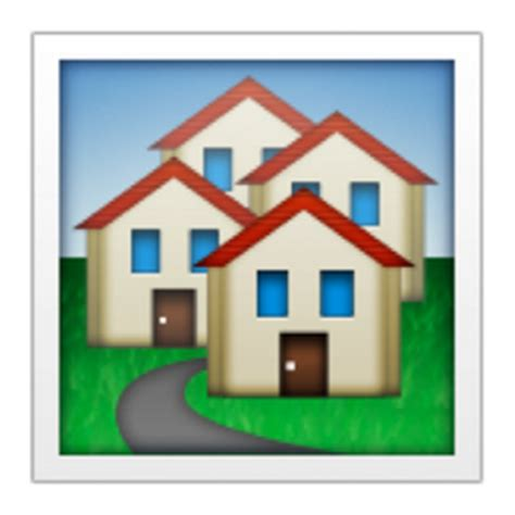 house buildings emoji u 1f3d8