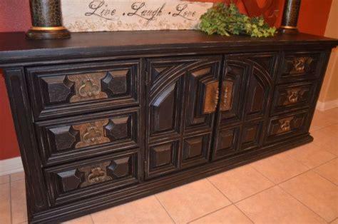 Bassett Furniture Vintage Dresser by Vintage Black Bassett Dresser Buffet Tv Media Console