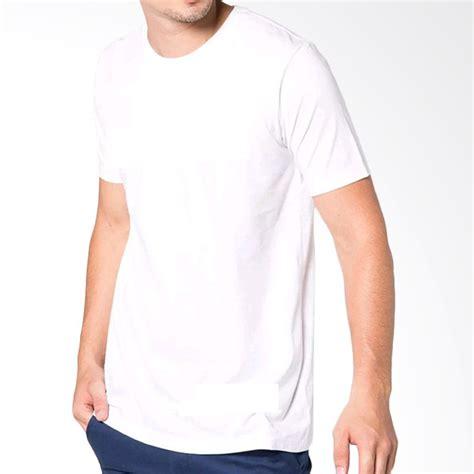 Daster Kaos Tangan Pendek Amabel jual vm o neck tangan pendek putih kaos pria harga kualitas terjamin blibli