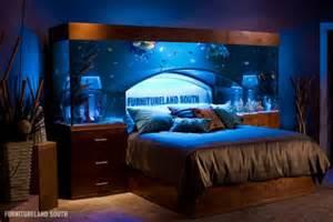 Bed With Aquarium Headboard by Amazing Built In Aquariums In Interior Design