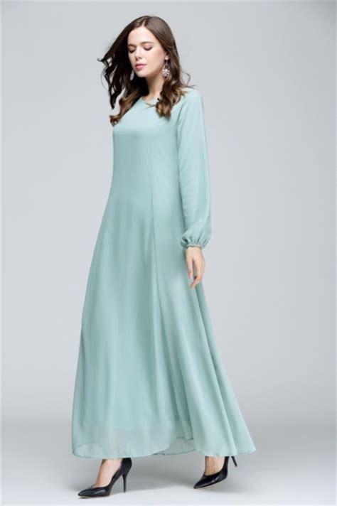 fesyen jubh princess princess cut flare jubah dusty mint