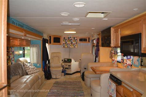 our 1st remodel class c motorhome rv remodel pottery rv remodel for a large family crazy family adventure