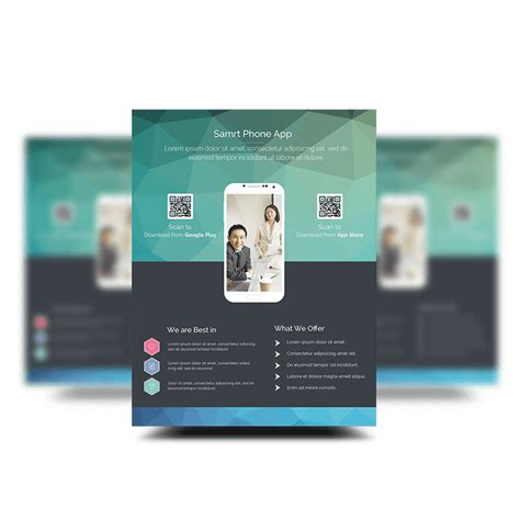 Free Psd App Promotion Flyer Templates Psdboom Free Flyer Design Templates App