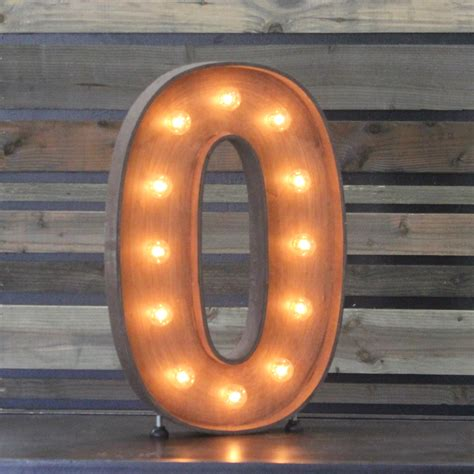 zero in edison marquee number quot 0 quot town country event rentals