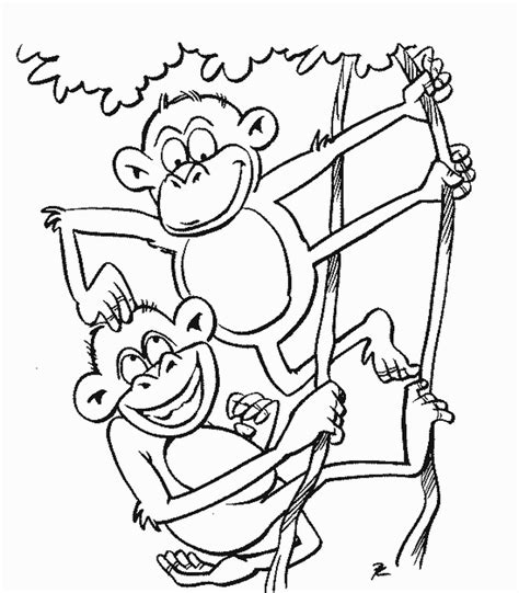 Printable Monkeys Coloring Pages Coloring Part 5 Coloring Page Monkey