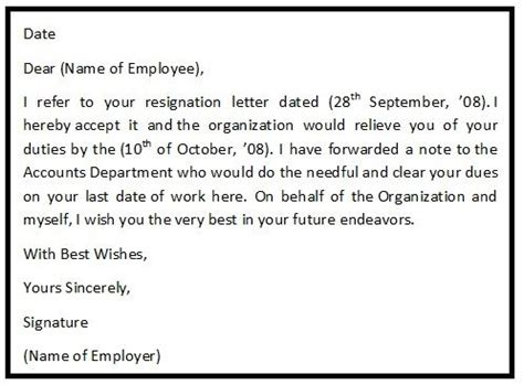 Acceptance Of Resignation Letter With Pay In Lieu 17 Best Ideas About Resignation Letter Format On Professional Resignation Letter