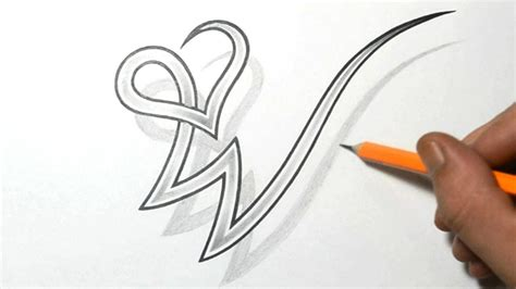 heart letter tattoo designs drawing letter w combined with a design letters
