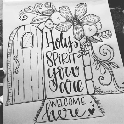 coloring pages for bible journaling bible journaling coloring page quot holy spirit you are