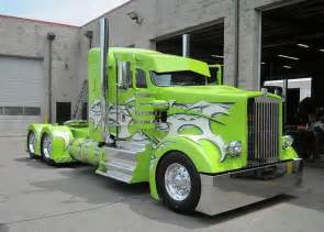 Custom Commercial Truck Wheels Lime Green K Whopper One Custom Semi Truck